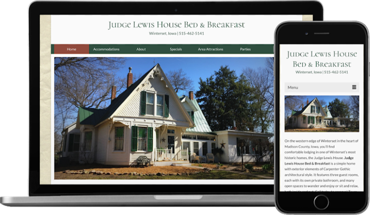 WordPress Website for Bed and Breakfast