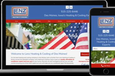 Lenz Heating & Cooling Website