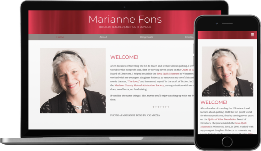 Marianne Fons Website