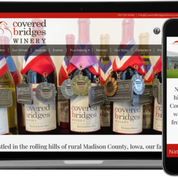 Covered Bridges Winery Website