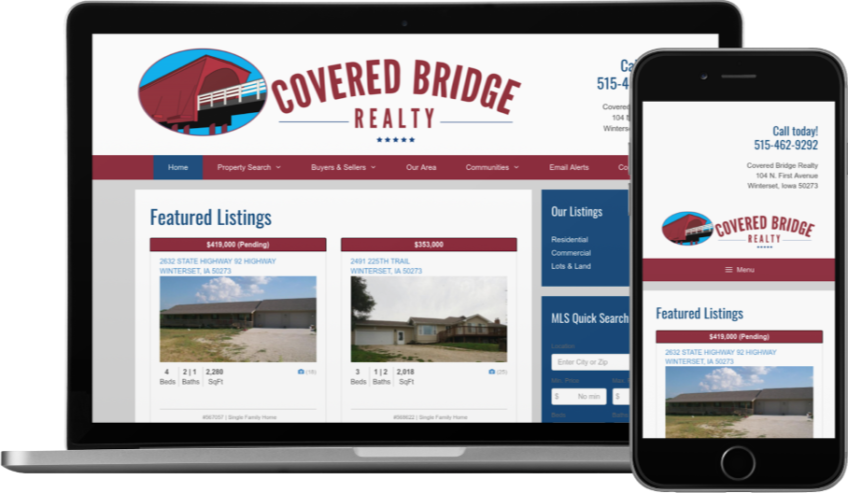 Covered Bridge Realty Website