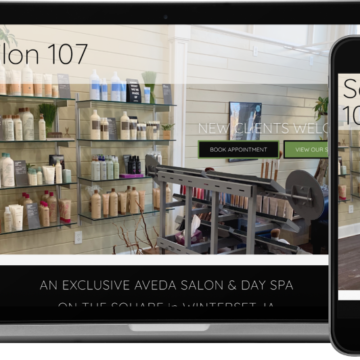 Salon 107 Website