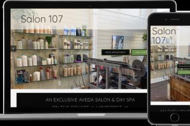 Salon 107 Website