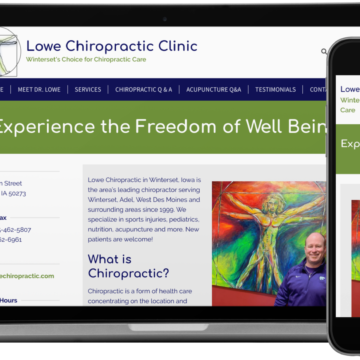 Lowe Chiropractic Clinic Website