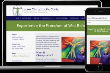 Lowe Chiropractic Clinic Website
