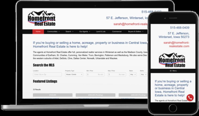Homefront Real Estate Website