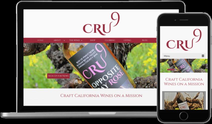Cru9 Wine Website
