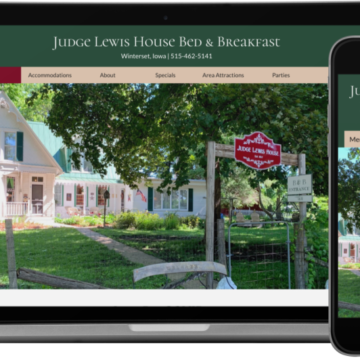 Judge Lewis House Bed & Breakfast Website