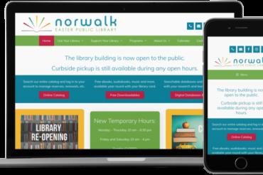 Norwalk Easter Public Library Website